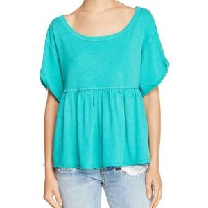 Free People oversized tee large green